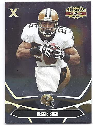 REGGIE BUSH 2008 Donruss Gridiron Gear #62 X PARALLEL Game-Worn JERSEY Card #076 of only 100 made! San Francisco 49ers Football