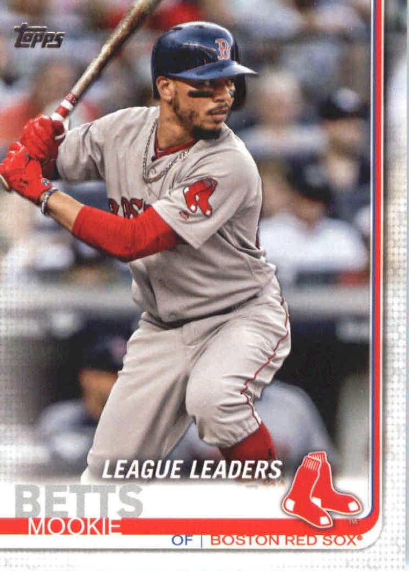 2019 Topps Baseball #312 Mookie Betts Boston Red Sox