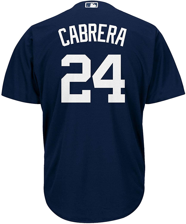 Miguel Cabrera Detroit Tigers Navy Blue Kids Cool Base Alternate Replica Jersey