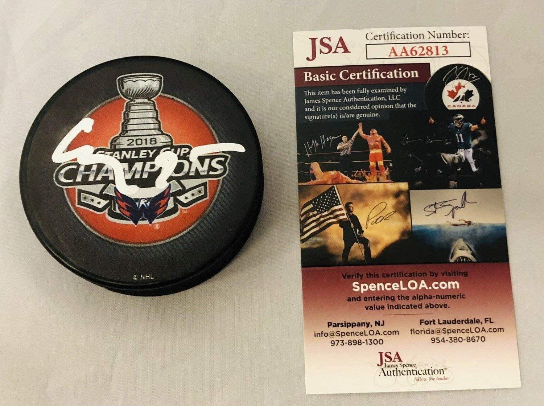 Evgeny Kuznetsov Autographed Signed Washington Capitals Stanley Cup Champs Puck Auto+JSA COA