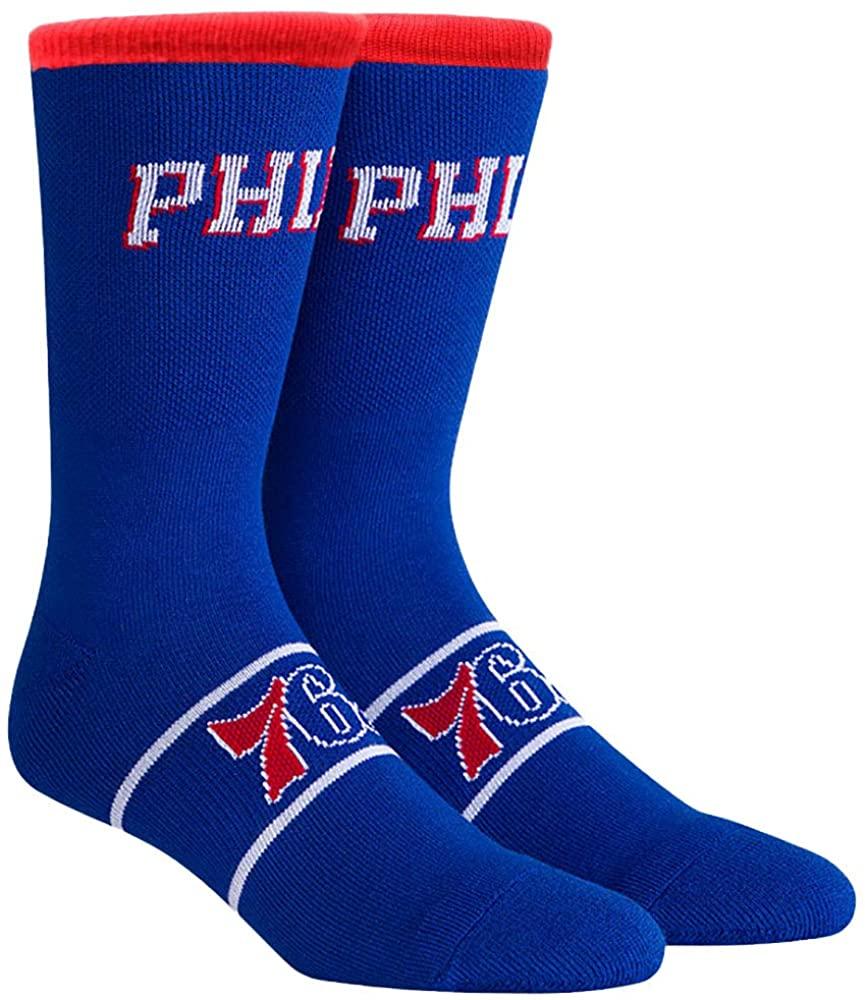 NBA Philadelphia 76ers Unisex Uniform Crew Socks, Multicolor, Large