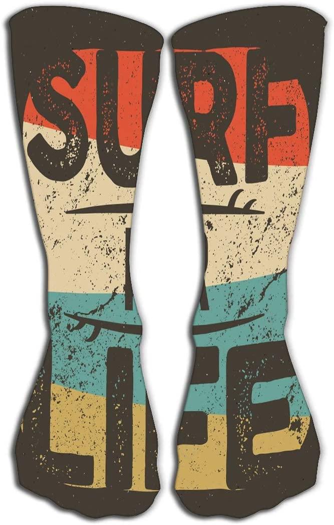 GHEDPO High Socks Novelty Compression Long Socks for Men's Women and Girls 19.7