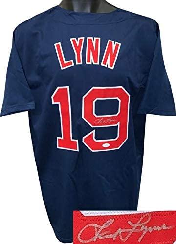 Fred Lynn Signed Jersey - Navy TB Custom Stitched XL Witnessed Hologram - JSA Certified - Autographed MLB Jerseys