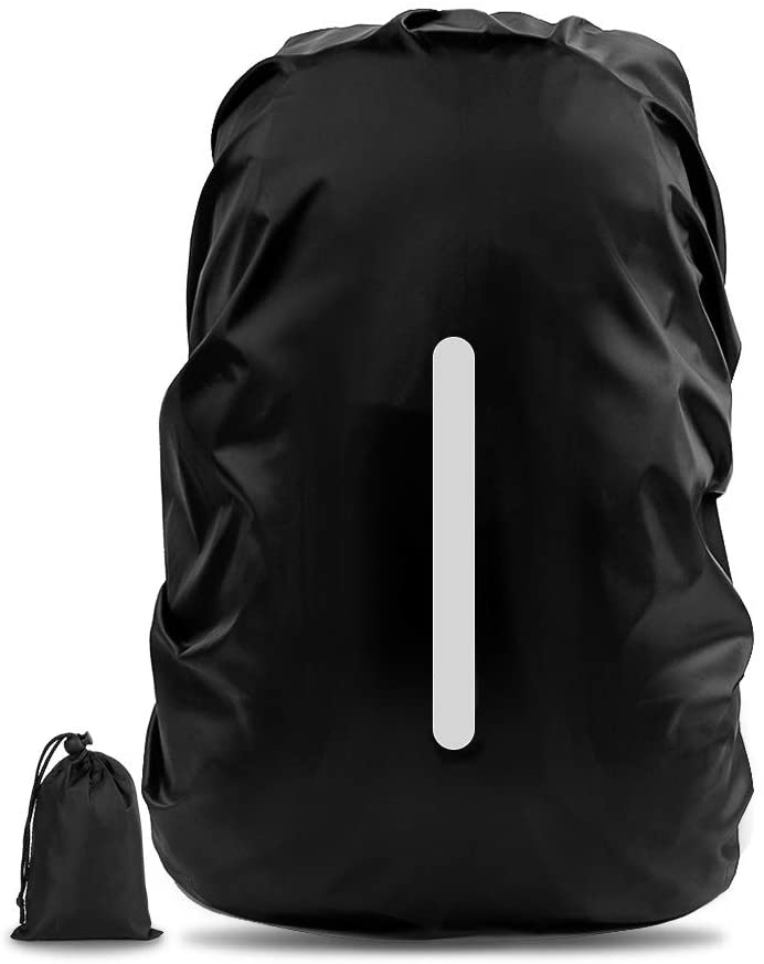 Waterproof Backpack Cover, Rain Cover for Backpack, Backpack Rain Cover w/ Reflective Strap, Reinforced Waterproof Coating, Anti-Slip Buckle Strap, Rainproof Storage Pouch, for Outdoor Activities