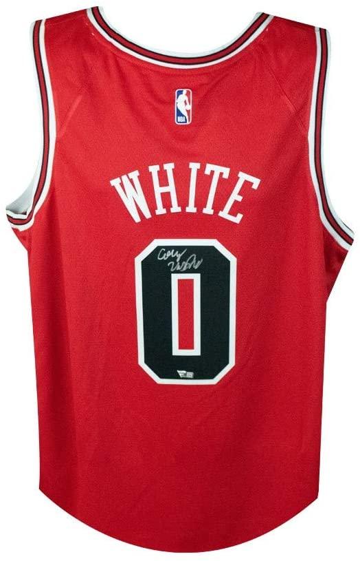Coby White Autographed Chicago Bulls Nike Swingman Basketball Jersey - Fanatics