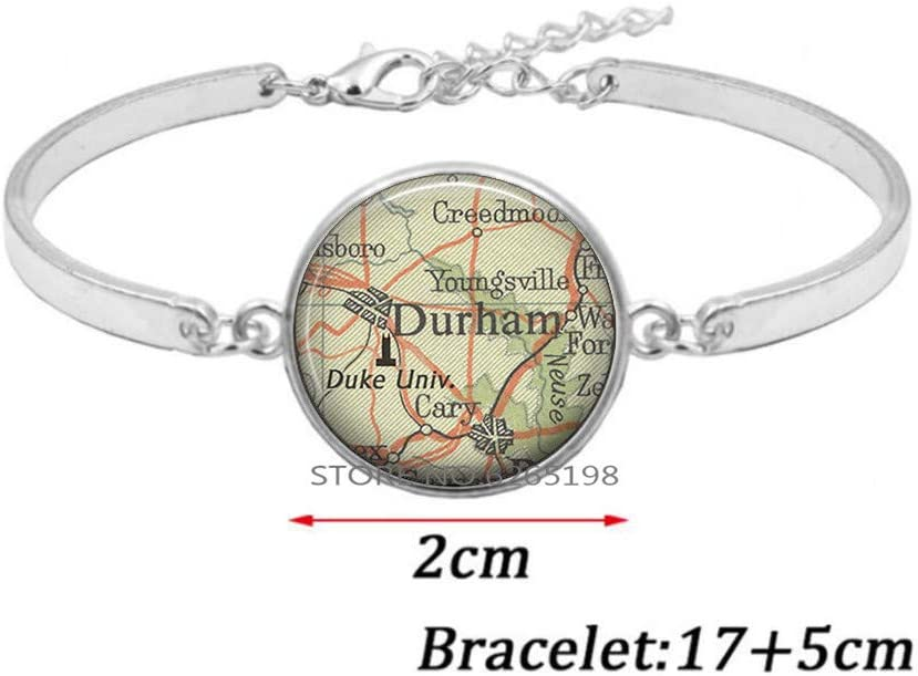 Duke University Bracelet, Duke University Bangle College map Jewelry Student Alumni Graduation Gift,map Jewelry Travel Gift,N326