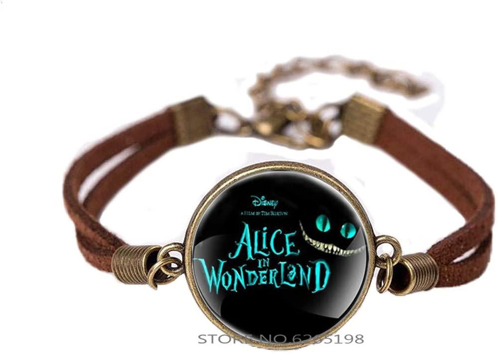 Cat Bracelet,Wonderland Bracelet, Gift Idea for Men, for Women,Cheshire Cat Wonderland Jewelry Wonderland Bracelet,N198