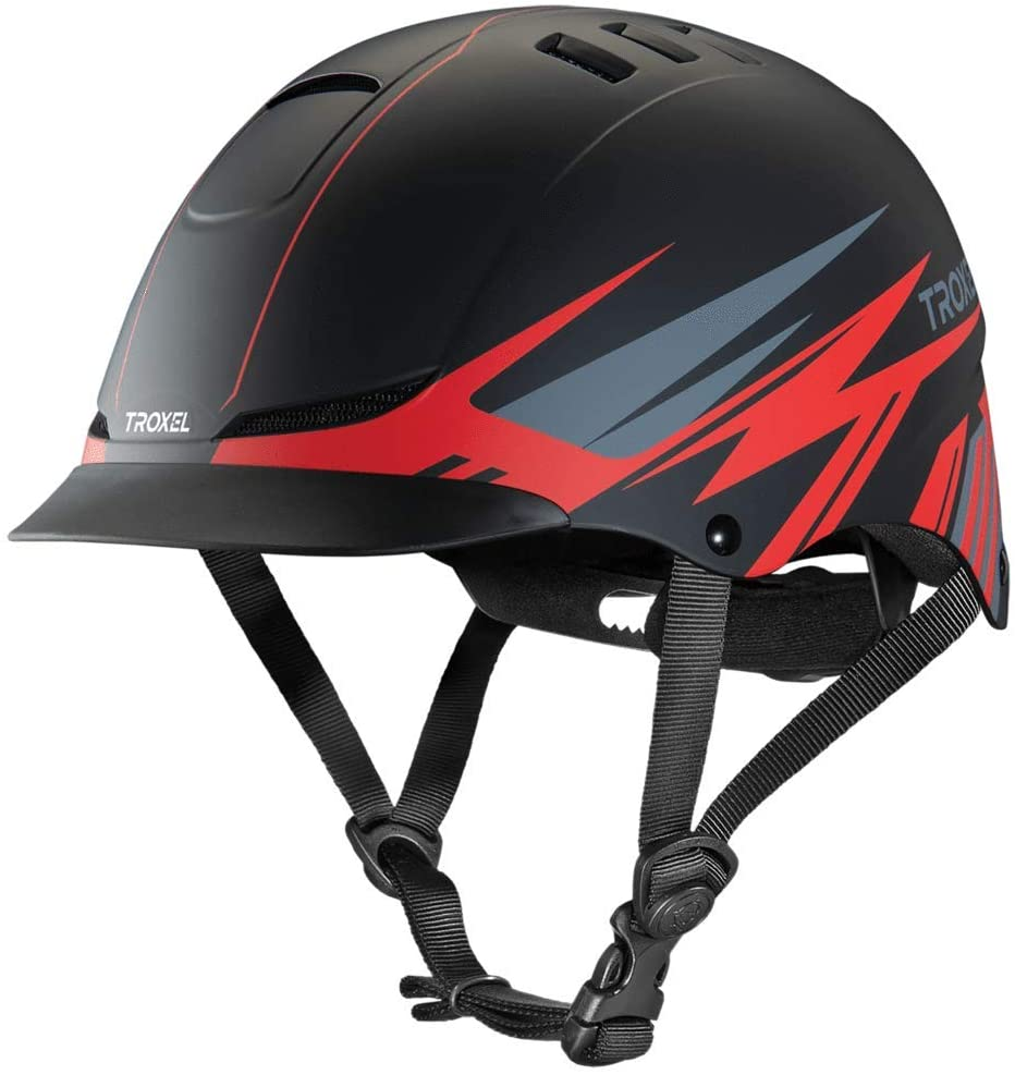 Troxel TX Red Flash Horse Riding Western Helmet Low Profile Adjustable