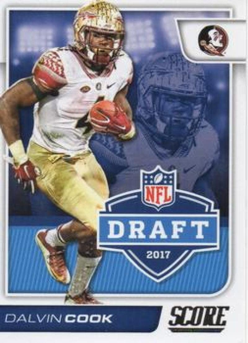 2017 Score NFL Draft #8 Dalvin Cook Florida State Seminoles Rookie RC Football Trading Card made by Panini