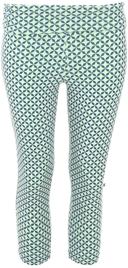 Kickee Pants Bamboo Women's Print Performance Jersey 3/4 Legging (Pistachio Taj Mahal - S)