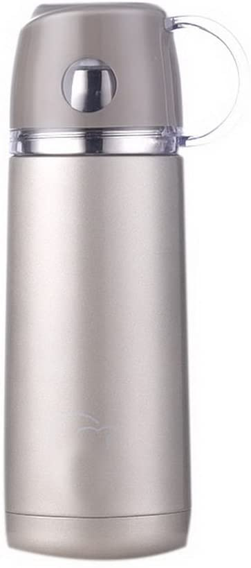 Gentle Meow Vacuum Cup 12 Oz Stainless Steel Cup Portable Student Water Bottle, Light Sliver
