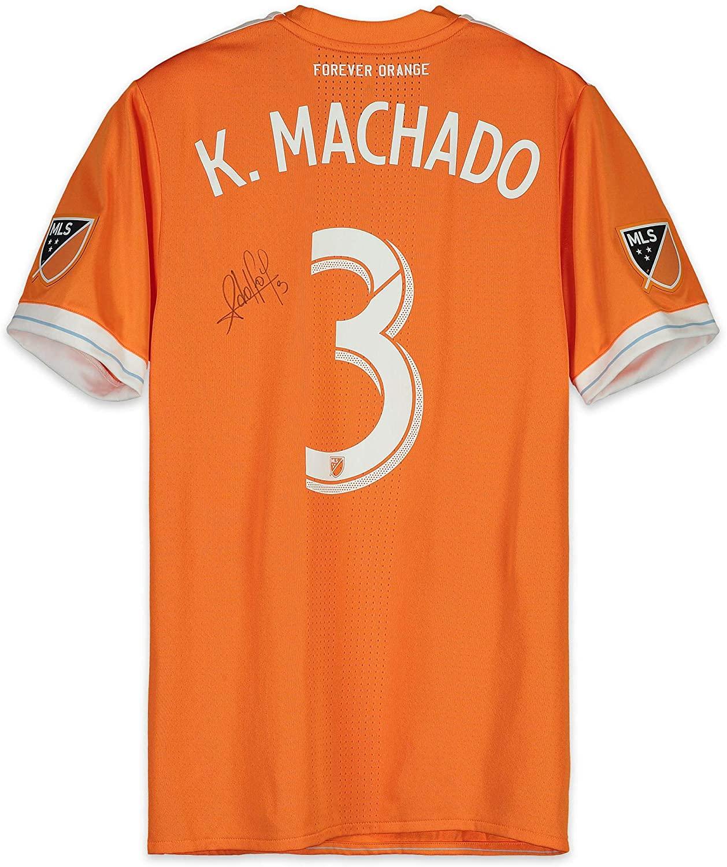 Adolfo Machado Houston Dynamo Autographed Match-Used Orange #3 Jersey vs. San Jose Earthquakes on September 29, 2018 - Fanatics Authentic Certified