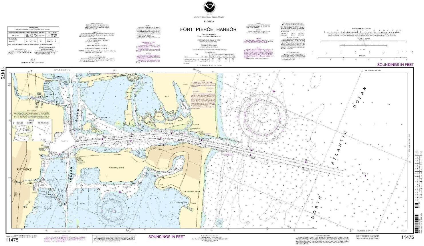 NOAA Chart 11475: Fort Pierce Harbor
