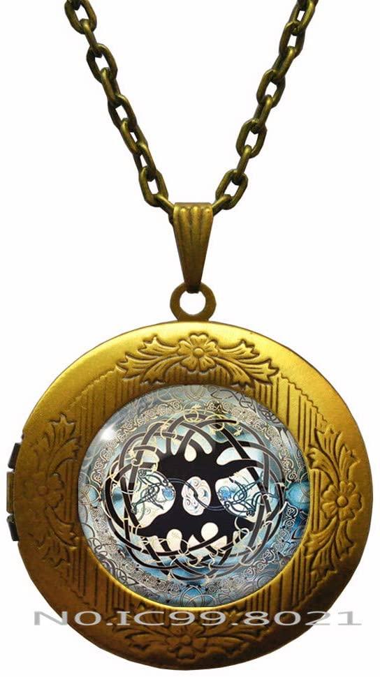 maoqunza Celtic Tree of Life Pendant,Tree of Life Pendant, Tree of Life Jewelry, Gift for Her, Tree Locket Necklace, Celtic Tree, Celtic Locket Necklace, RG389