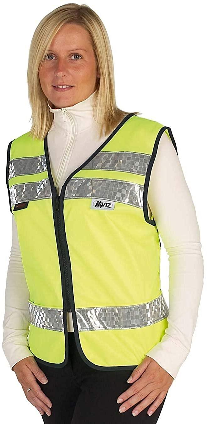 Hyviz Childs Adjustable Mesh Waistcoat with Phone Pocket (Yellow/Navy, Large)