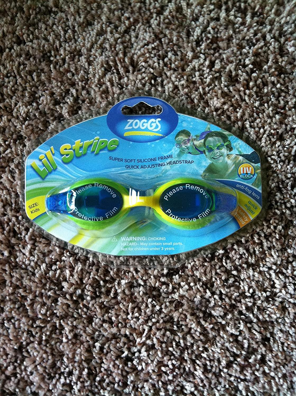 Zoggs Lil ' Stripe Kids Swimming Googles; Anti-Fog Lens