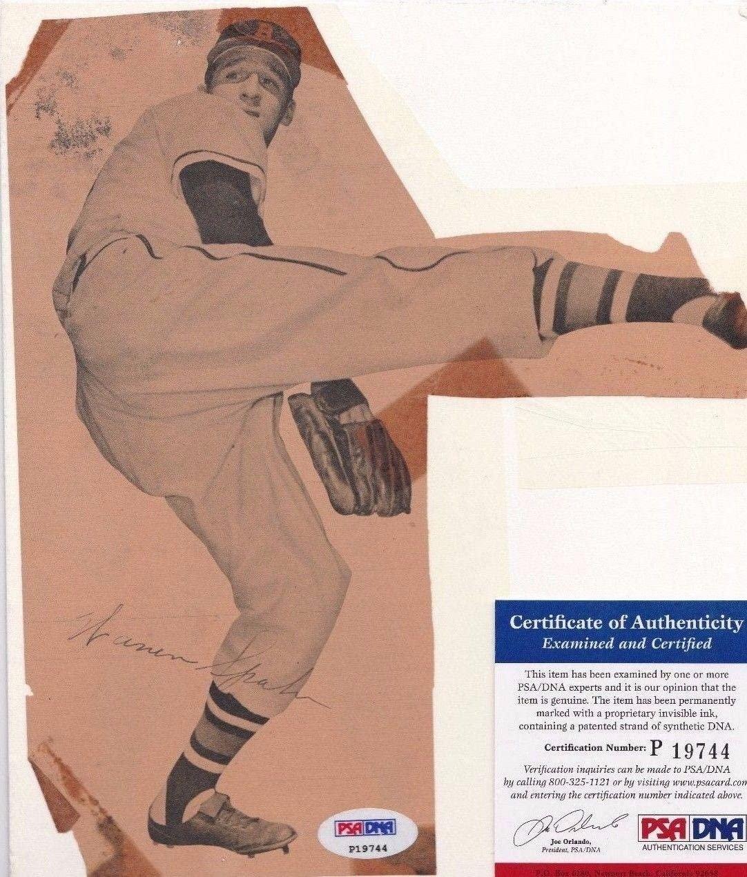 Warren Spahn Signed Vintage Milwaukee Brewers Baseball Magazine Cut P19744 - PSA/DNA Certified - Autographed MLB Magazines