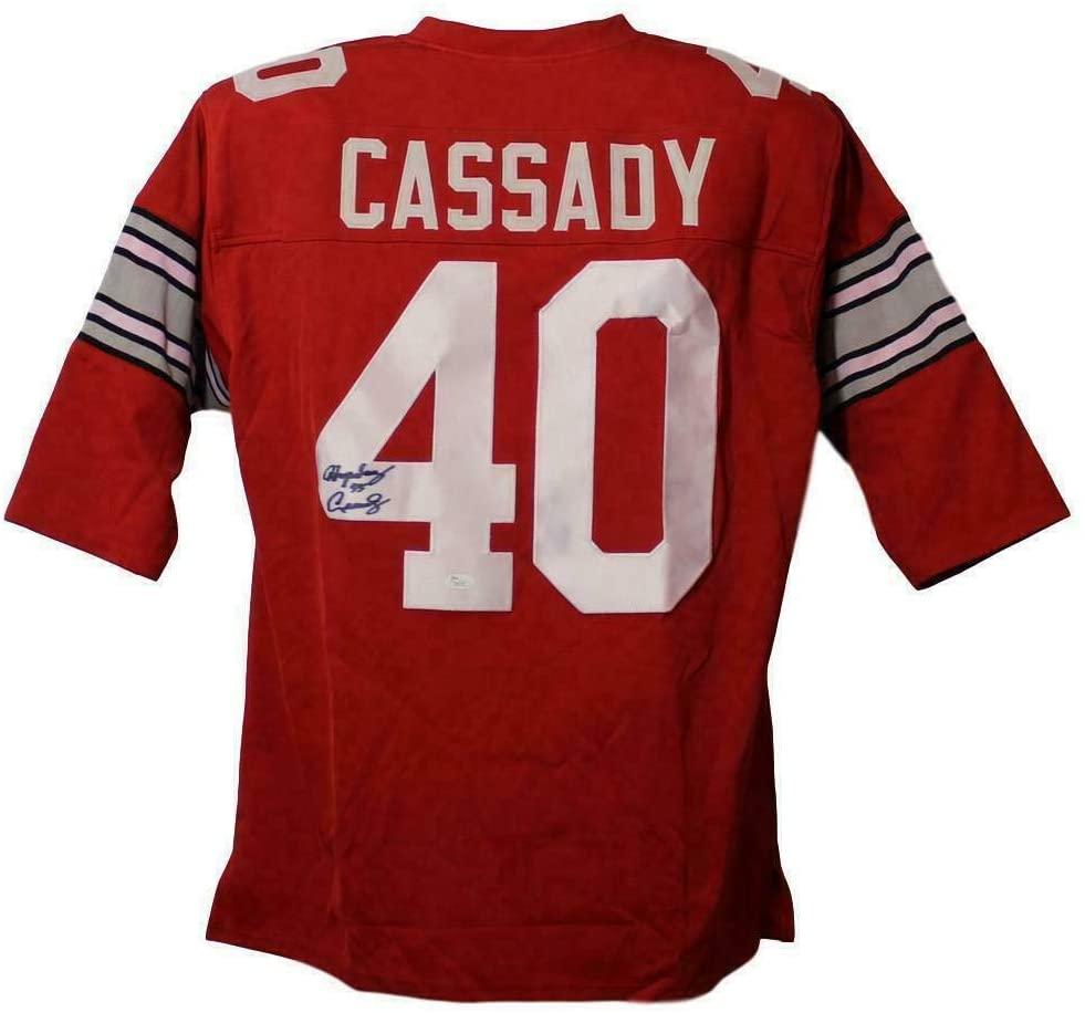 Hopalong Cassady Autographed Jersey - XL Red 18064 - JSA Certified - Autographed College Jerseys