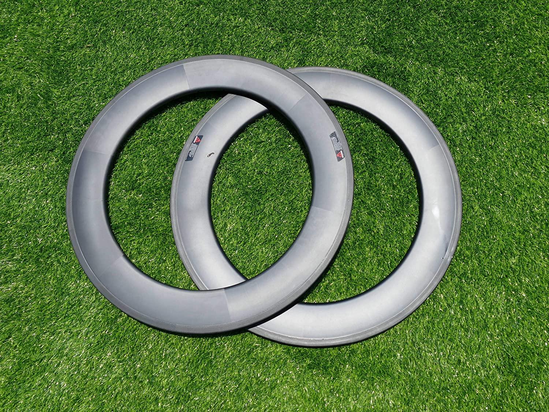 Width 25mm Wide U Shape 88mm Cycling Wheel Rims UD Carbon Matt Bike Tubeless Rim 700C Carbon Road Bicycle Rims 88mm (20, 24 Holes)