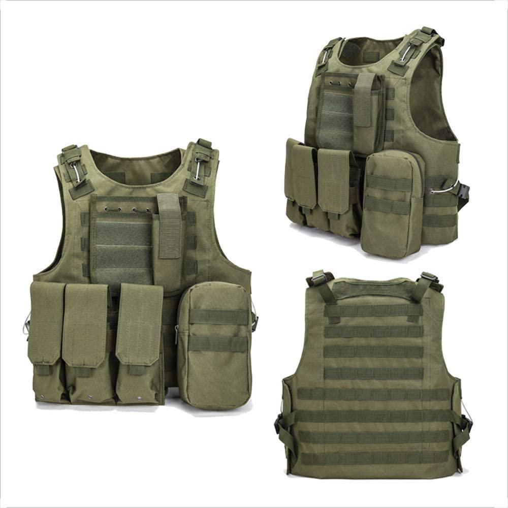 NOBUNO Tactical Vest, Outdoor Multi-Functional Amphibious Tactical Vest Combat Uniform Military Fan Sports Vest Assault Field Survival Equipment,1