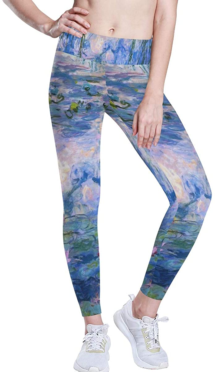 SLHFPX Yoga Pants Mermaid Star Moon Womens High Waisted Workout Leggings Gym Tummy Control