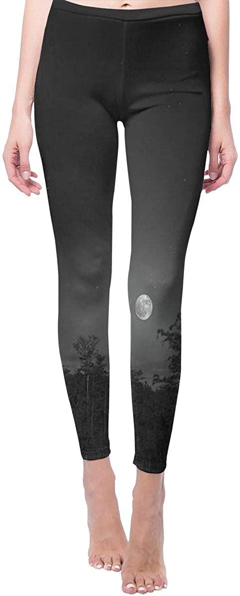 Ruin Yoga Pants Moon and Forest High Waist Skinny Leggings Sweatpants