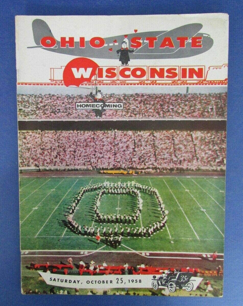 1958 OSU vs Wisconsin Homecoming College Football Program 124114 - College Programs
