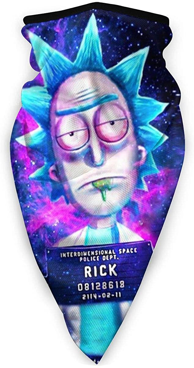 Unisex Rick-Mortys Windproof Sports Face Cover Fashion Bandana Balaclava Magic Scarfs for Adult Kids