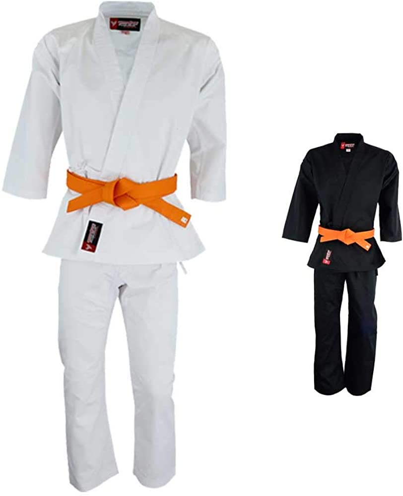 Twister Training Student Karate Gi, Martial Arts Uniforms middleweight 8oz with Free White Belt Sizes 0000 to 7