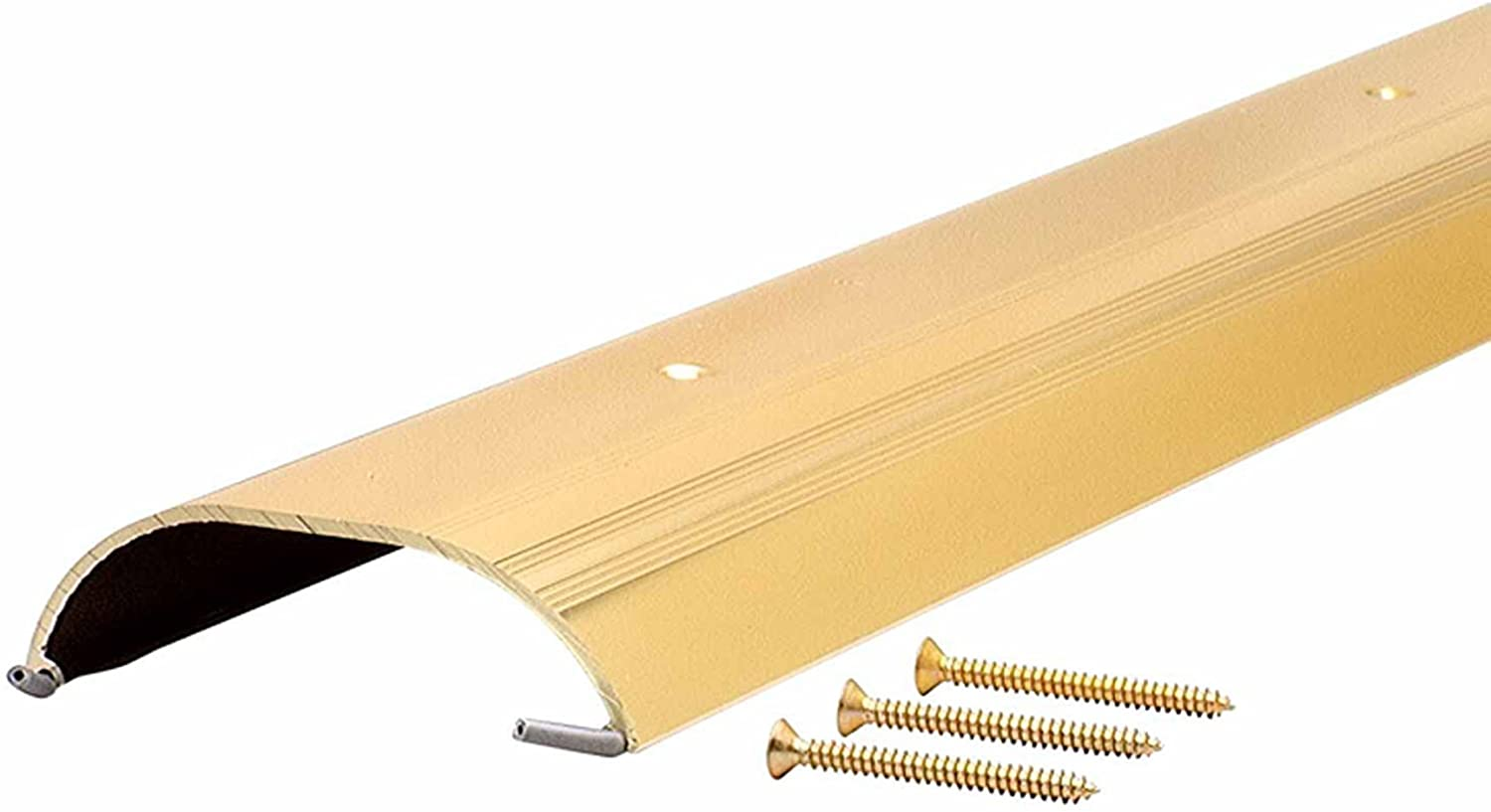 M-D Building Products 81697 1-Inch by 4-Inch by 36-Inch TH009 High Dome Top Threshold, Brite-Dip Gold