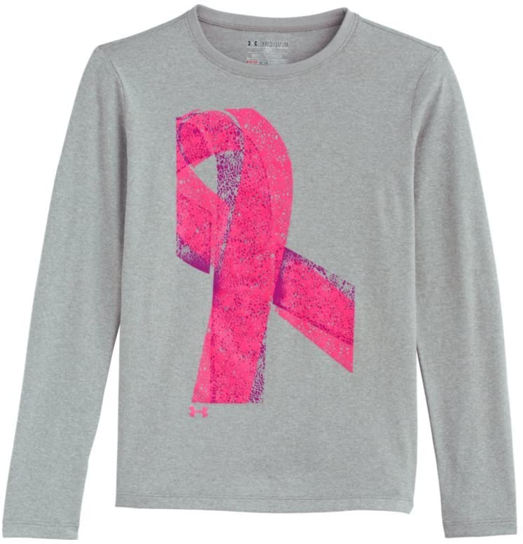 Under Armour Girls' UA Power In Pink Graphic Long Sleeve