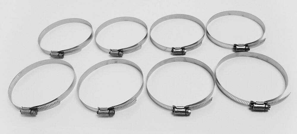8PC 89-140mm Worm Gear Stainless Steel Hose Clamps Adjustable 3 1/2