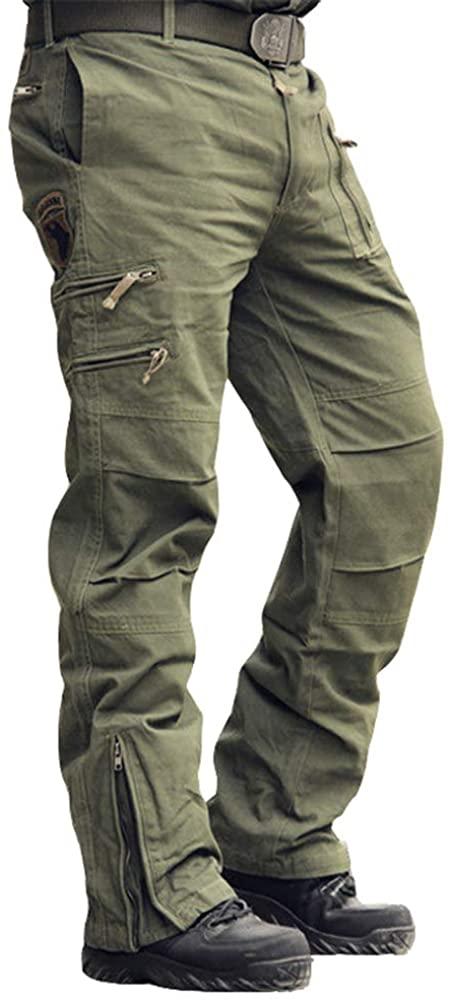 Menargo Men's Tactical Pants Outdoor Workout Cargo Pants Men Rip-Stop Work Pants for Men with Multiple-Pockets