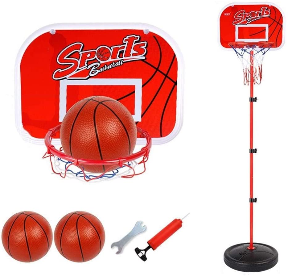 YOULAN Kids Basketball Stand Height Adjustable 80-200cm with Ball and Pump Outdoor Indoor Child Teens Basketball Hoop Set 2 Ways to Use