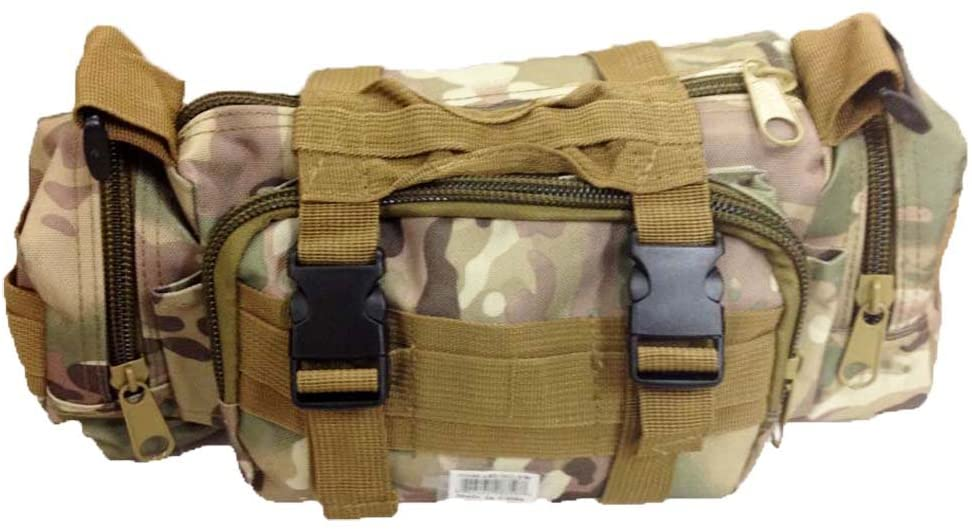 HAWK Multi-function Military Style Canvas Travel Bag In Light Woodland Camouflage Colors: AB2-MG-YW