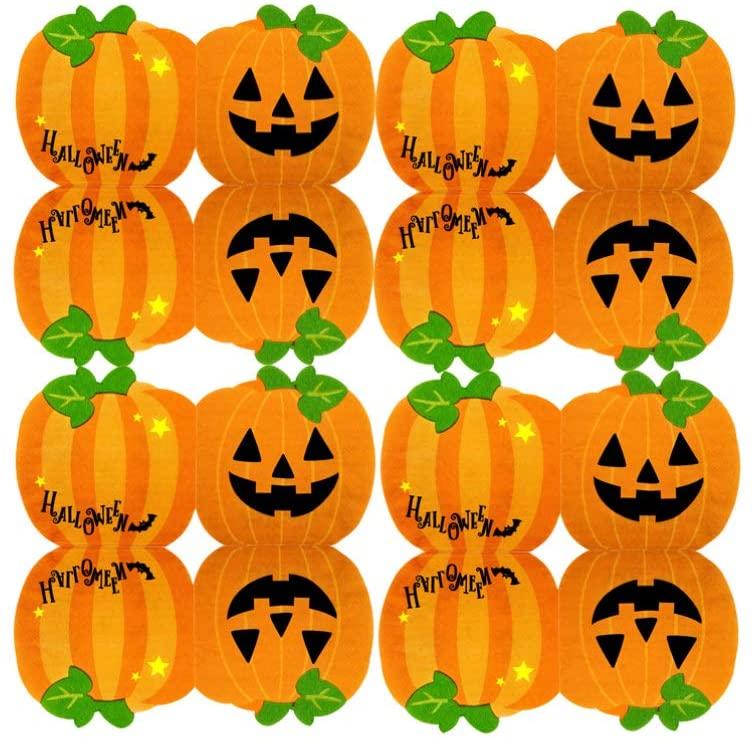 FENICAL 30pcs Autumnal Pumpkin Paper Cocktail Napkins Halloween Dinner Party