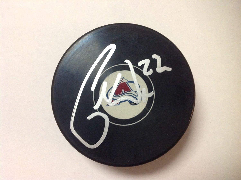 Colin Wilson Autographed Puck - Avs a - Autographed NHL Pucks