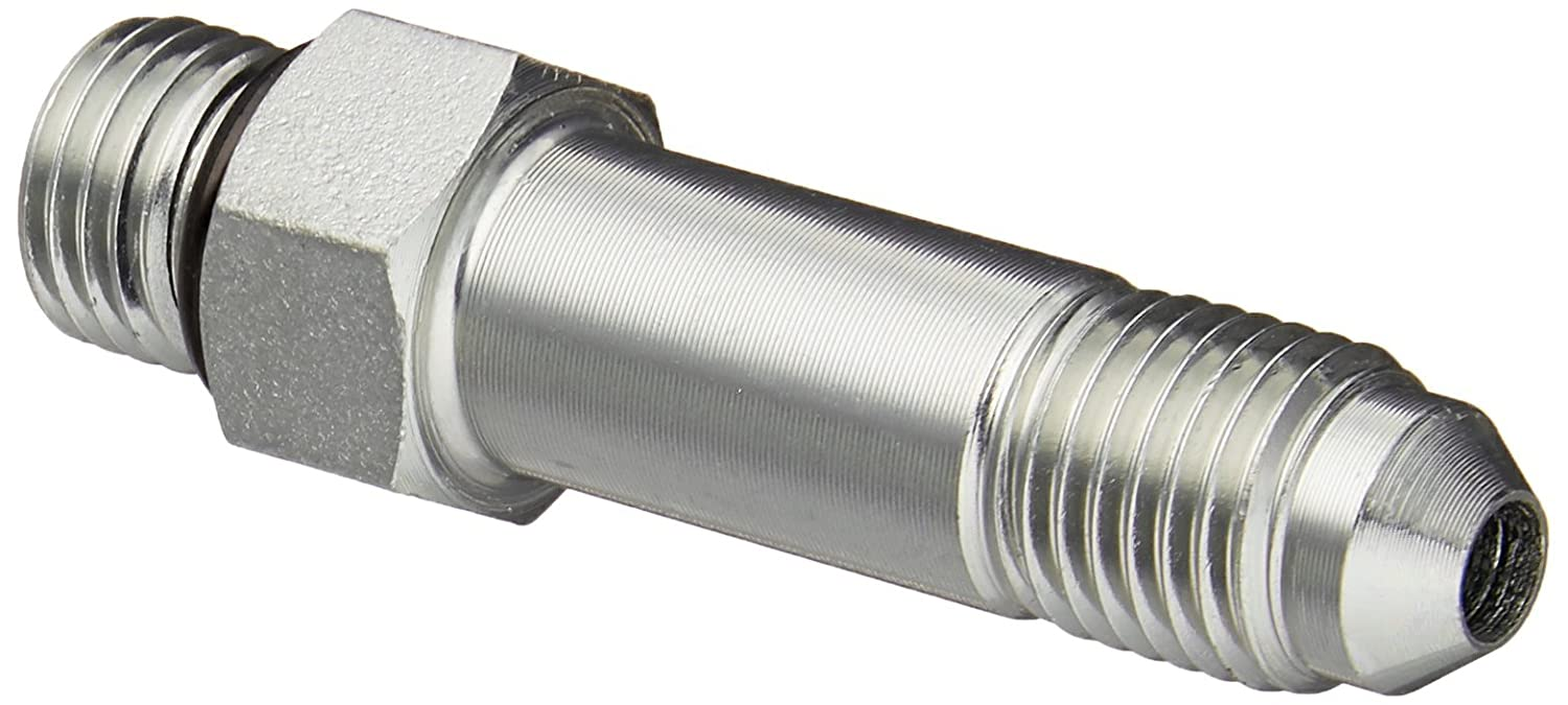 Brennan Industries 6400-L-04-04-O Steel Straight Long Tube Fitting, 7/16