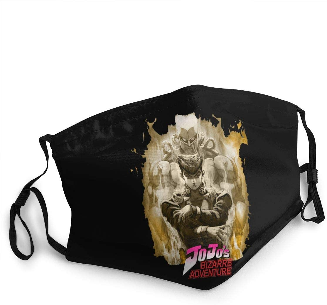 JoJo's Bizarre Adventure Burning Flames Face Cover Fashion Anti- Face Mouth Cover Windproof Adjustable Washable Cover for Outdoor Sports