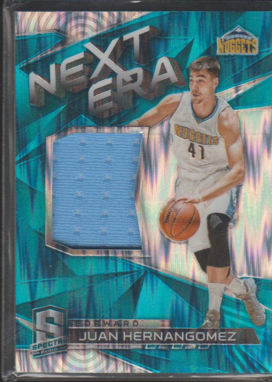 2016-17 Spectra Juan Hernangomez Nuggets 32/99 PRIZMNext Era Jersey Basketball Card #10