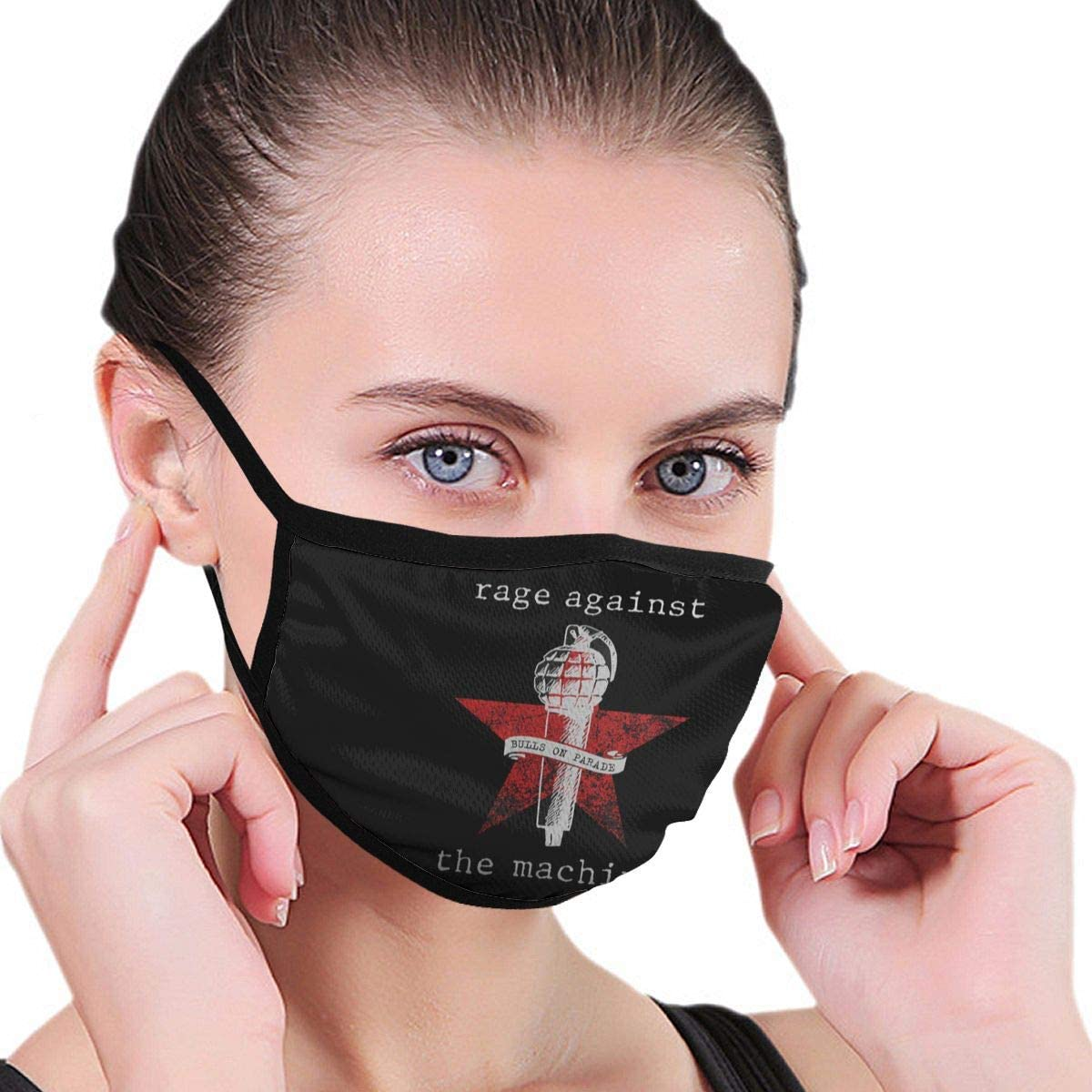 Hkany Fashionable Protection, Rage Against The Machine Neutral Black Dustproof Cotton, Windproof and Dustproof. Anti-Pollution.