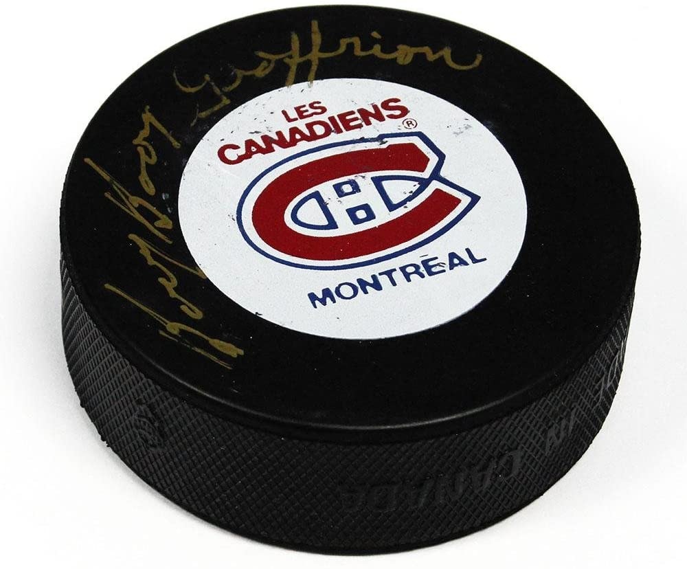 Bernie Geoffrion Signed Puck - Boom Boom - Autographed NHL Pucks