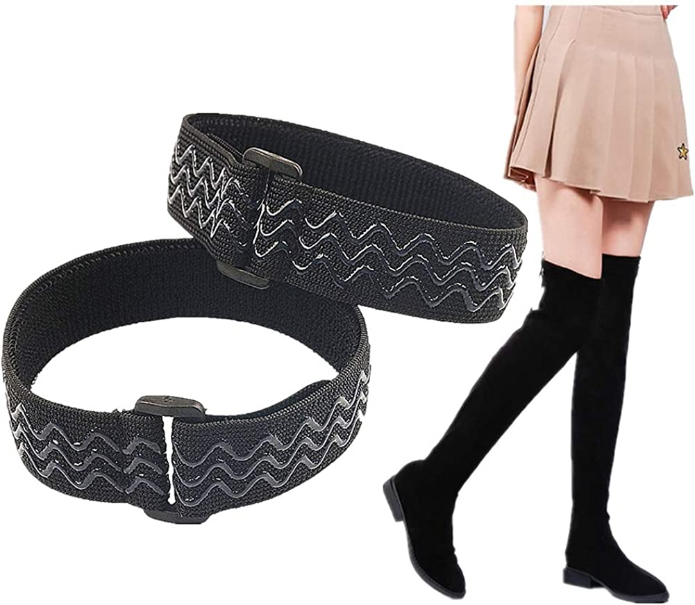 Knee Boots Straps Anti-Slip Fixed belt | Anti-Drop Down Prevent Loose No Fall Off | with 20 pcs Tape Stickers[1 pair]