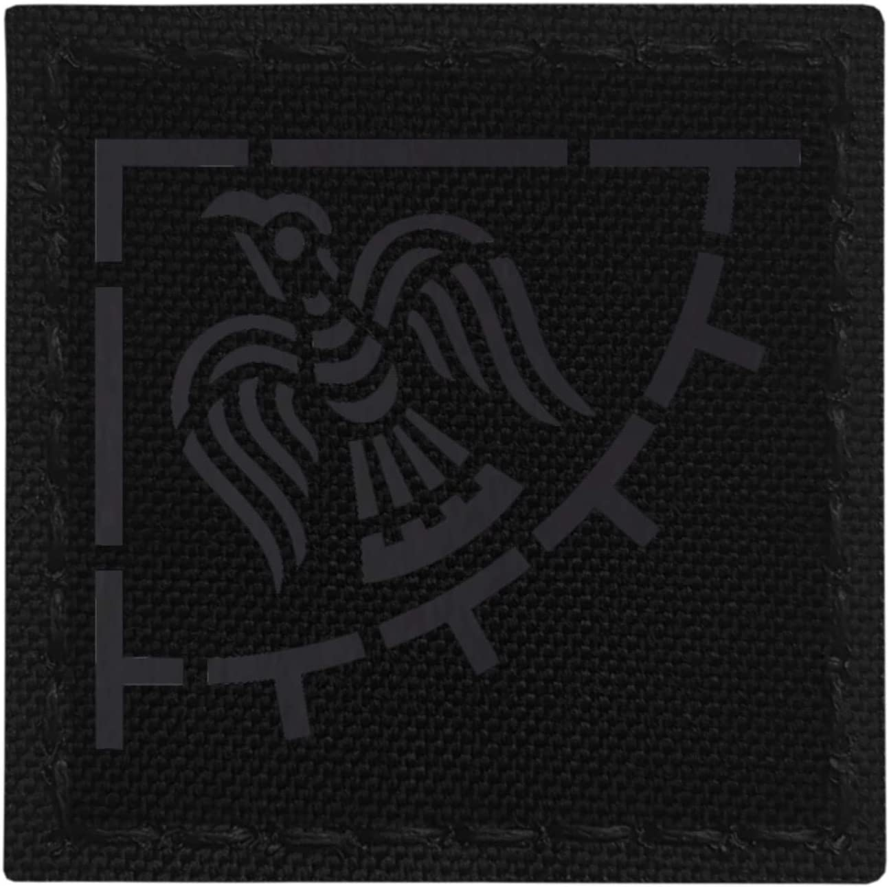 Blackout IR Raven Banner Viking 3x3 Norse Icelandic Heathen Infrared IFF Tactical Morale Hook&Loop Patch