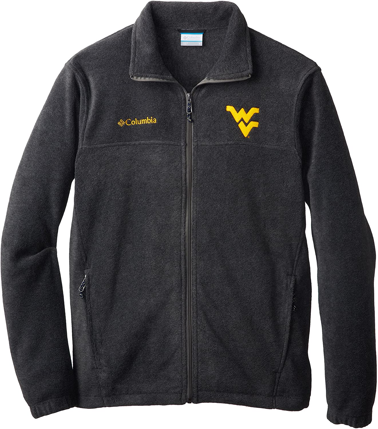 NCAA West Virginia Mountaineers Collegiate Flanker II Full Zip Fleece Jacket