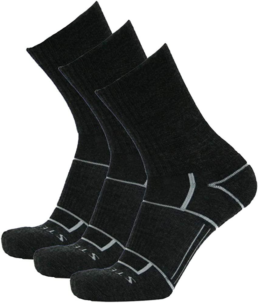 Stego EnduroTec Merino Wool Hiking Socks, Micro Crew - Unisex