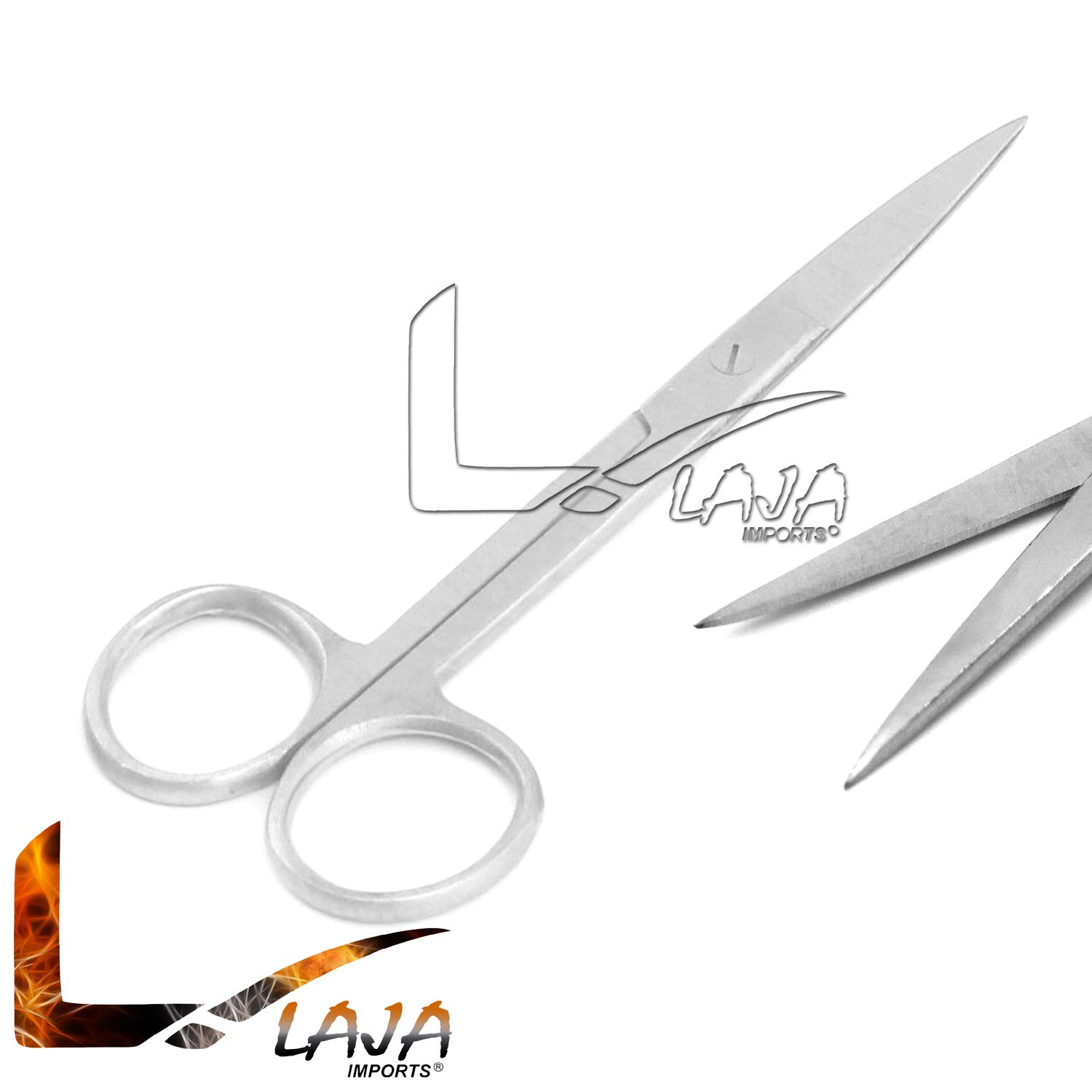 LAJA Imports Stainless Steel Scissors 5.5'' Length Operating Scissor Dissecting Scissors Sharp Straight Silver for Care and Home Nursing