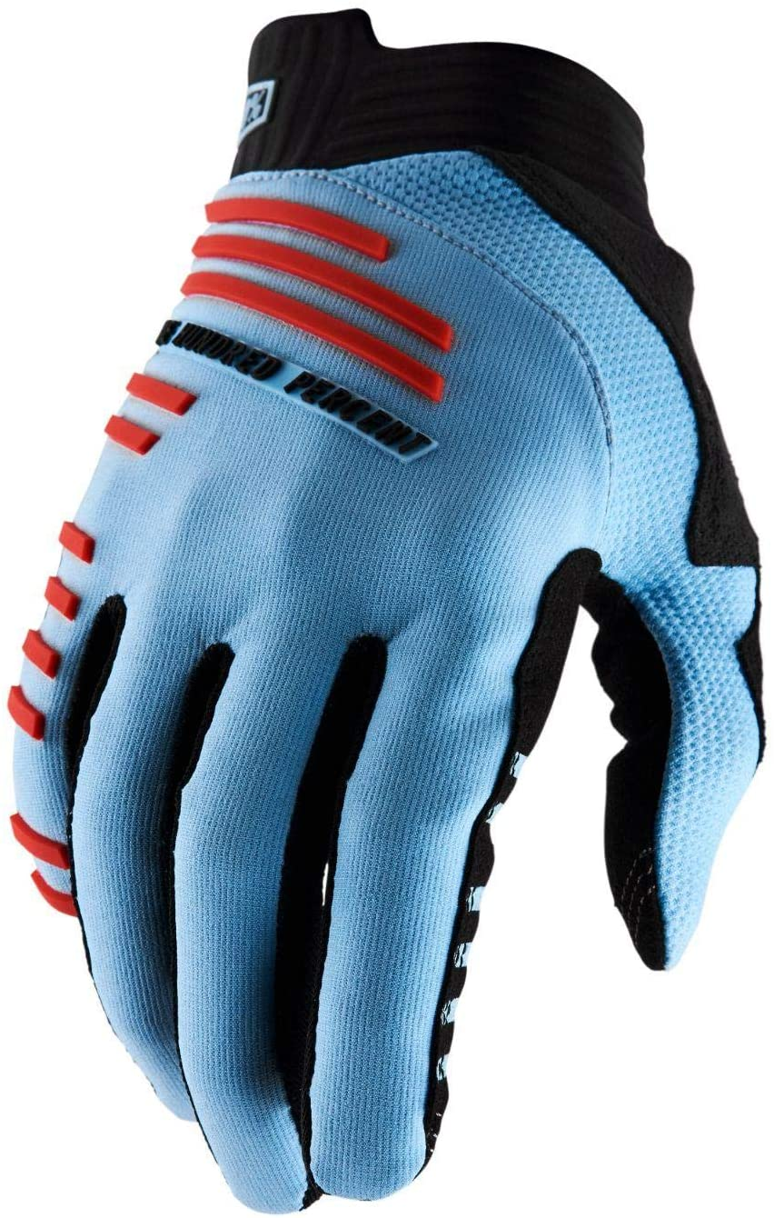 100 PERCENT SP20 - R-CORE Gloves Light Blue/Fluo Red MD