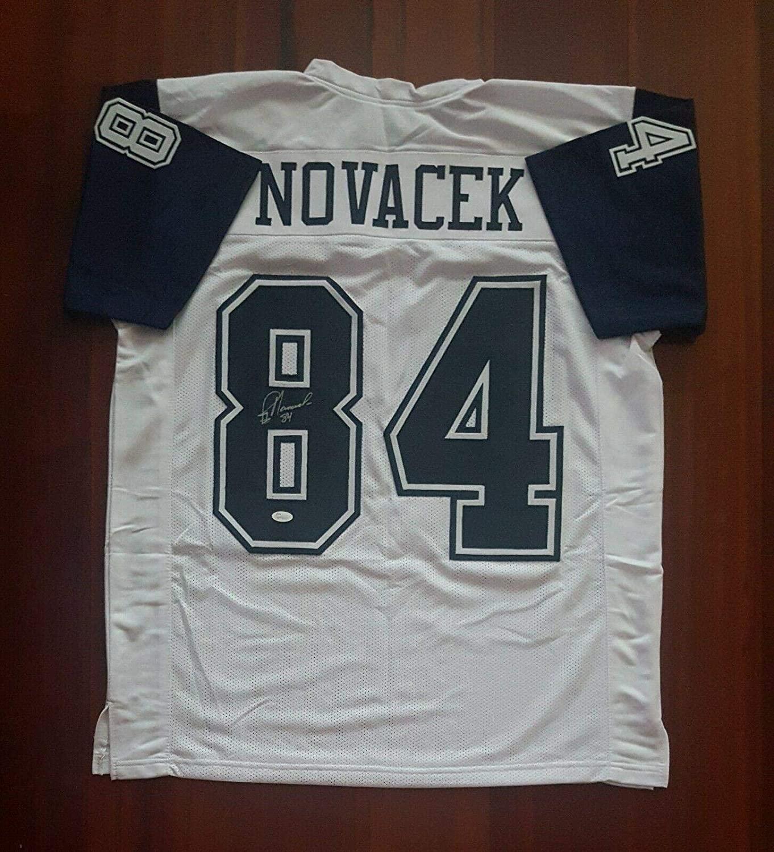 Signed Jay Novacek Jersey - Thanksgiving - JSA Certified - Autographed NFL Jerseys