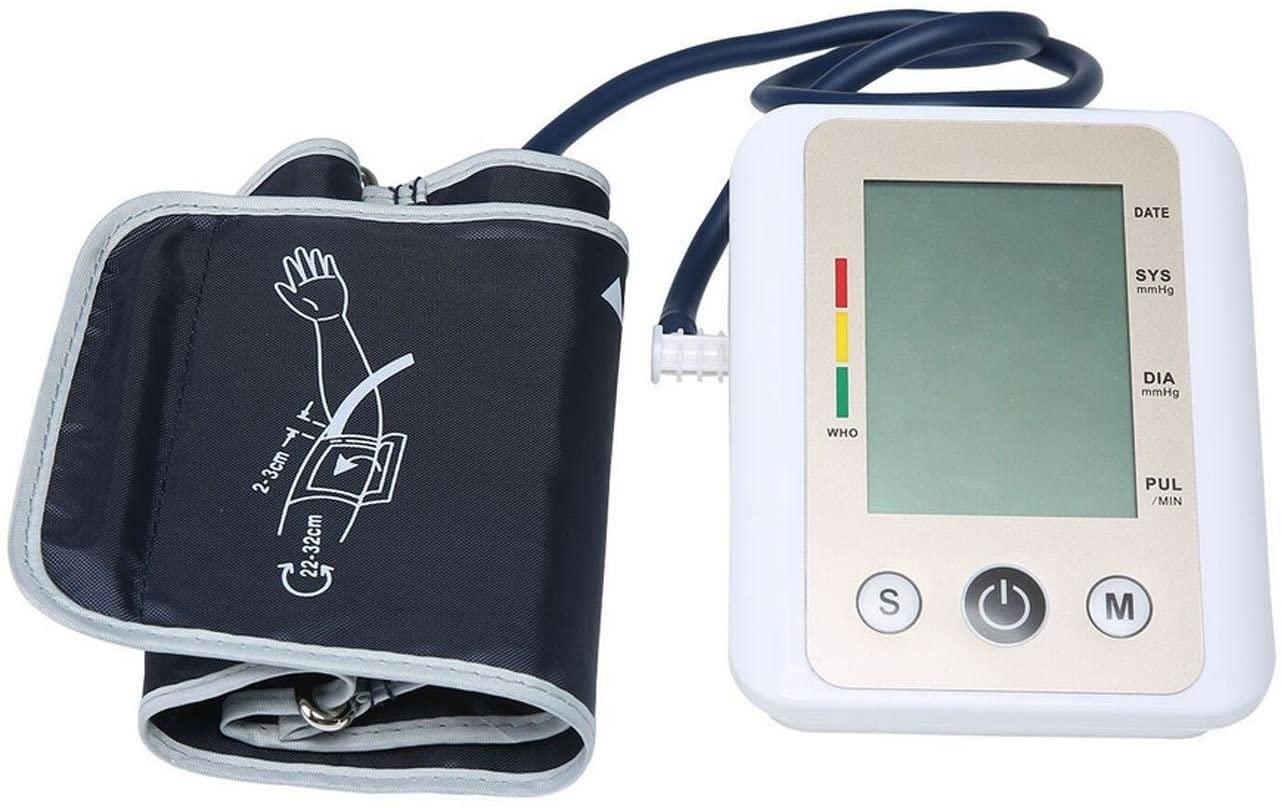 Automatic Upper Arm Intelligent Blood Pressure Sphygmomanometer Voice Large Screen Health Monitor Portable Medical Pulse Blood Pressure Measuring Instrument Elderly Family Precision Blood Pressure Met